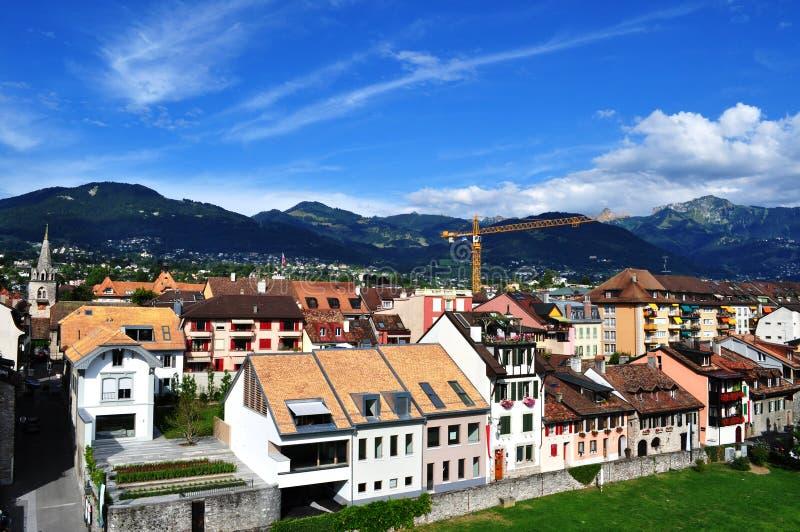 Cityscape van de berg royalty-vrije stock fotografie