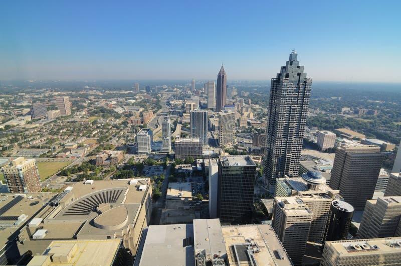 Cityscape van de binnenstad van Atlanta stock fotografie