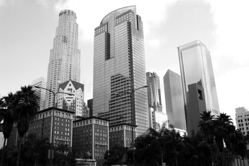 Cityscape van de binnenstad van Los Angeles Californië royalty-vrije stock foto