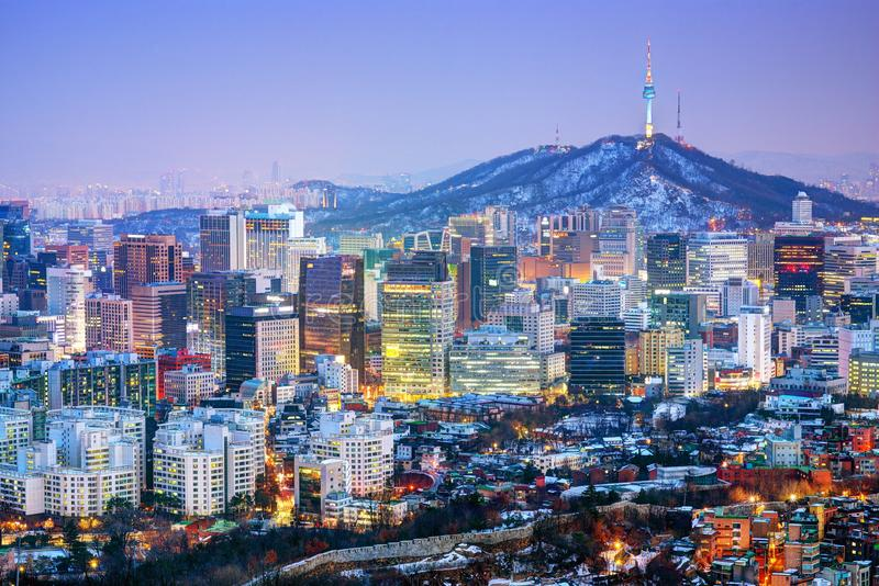 Stad van Seoel Korea royalty-vrije stock fotografie