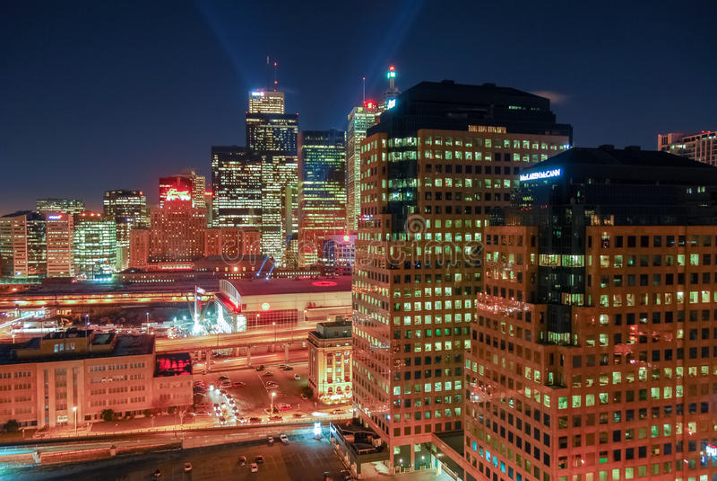 Cityscape Van de binnenstad van Toronto royalty-vrije stock afbeeldingen