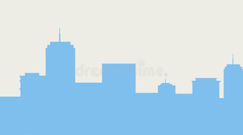 Cityscape van de gebouwenmetropool silhouet royalty-vrije illustratie