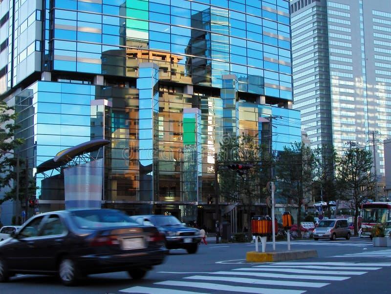 Cityscape van de schemer royalty-vrije stock afbeeldingen