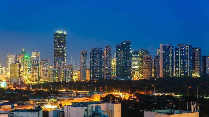 Cityscape van de stad van Manilla, Filippijnen royalty-vrije stock afbeeldingen