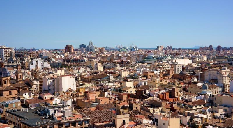 Cityscape van de stad van Valencia royalty-vrije stock afbeelding