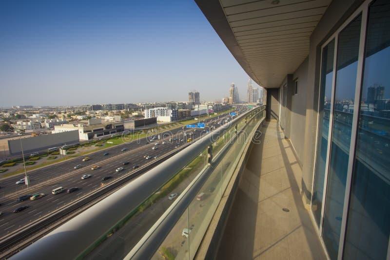 Cityscape van Doubai, luchtmening stock afbeeldingen