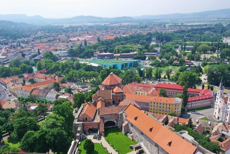 Cityscape van Esztergom royalty-vrije stock foto