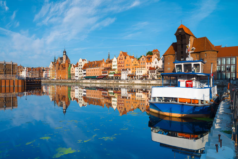 Cityscape van Gdansk royalty-vrije stock foto