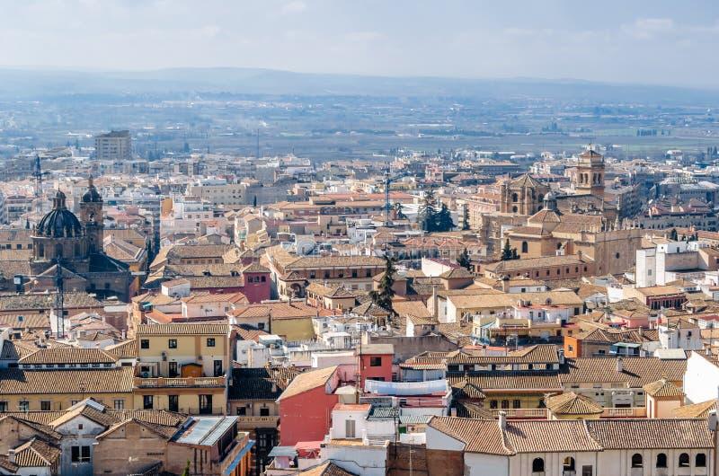 Cityscape van Granada, Spanje stock foto