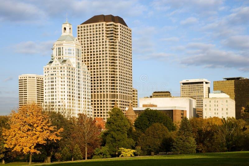 Cityscape van Hartford stock foto