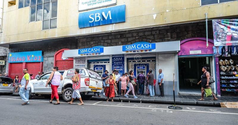 Cityscape van Haven Louis, Mauritius stock foto