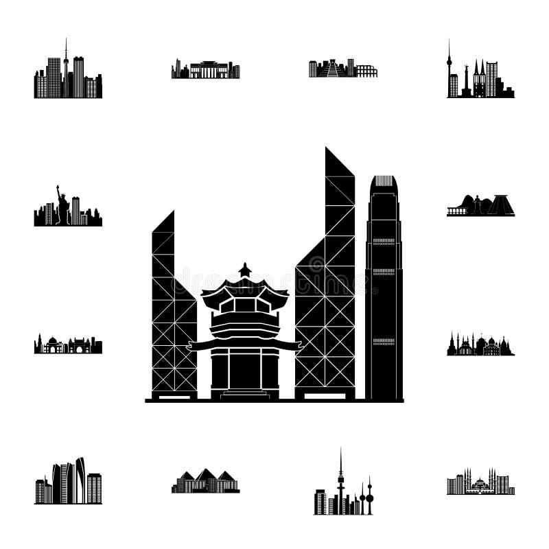 cityscape van het pictogram van Doubai Gedetailleerde reeks cityscape pictogrammen Grafisch het ontwerpteken van de premiekwalite vector illustratie