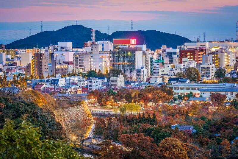 Cityscape van Himeji Japan royalty-vrije stock afbeelding