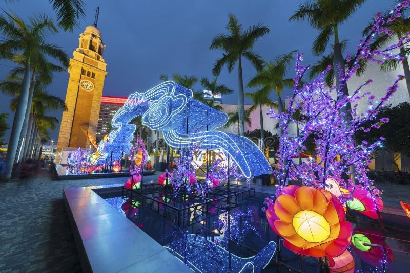 Cityscape van Hongkong stock afbeelding