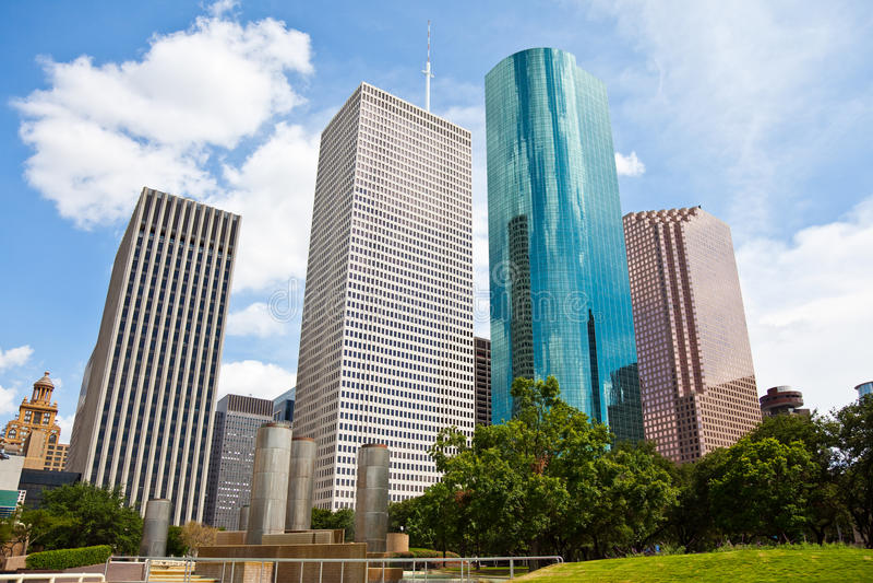 Cityscape van Houston Texas Horizon de van de binnenstad stock foto