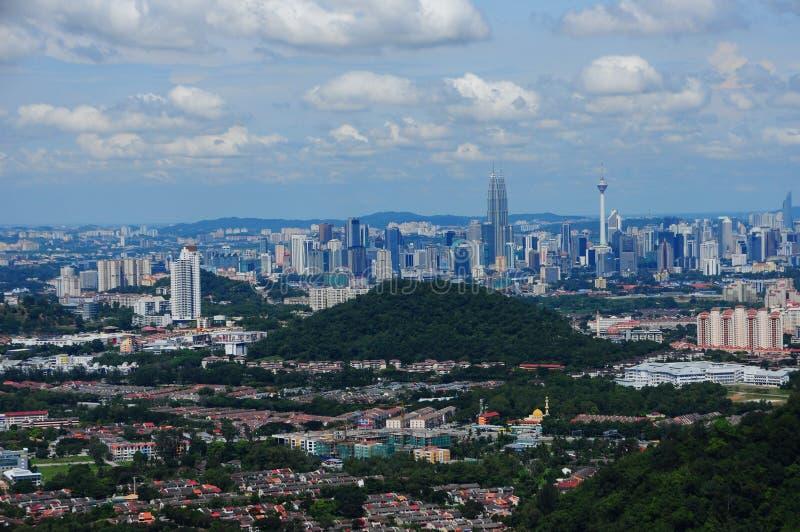 Cityscape van Kuala Lumpur stock foto