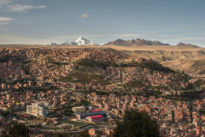 Cityscape van La Paz, Bolivië stock fotografie