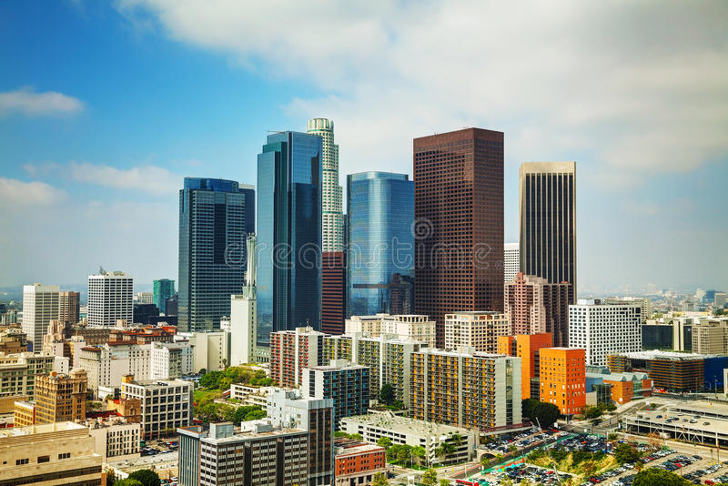 Cityscape van Los Angeles royalty-vrije stock foto