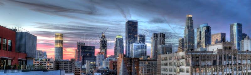 Cityscape van Los Angeles Van de binnenstad stock foto's