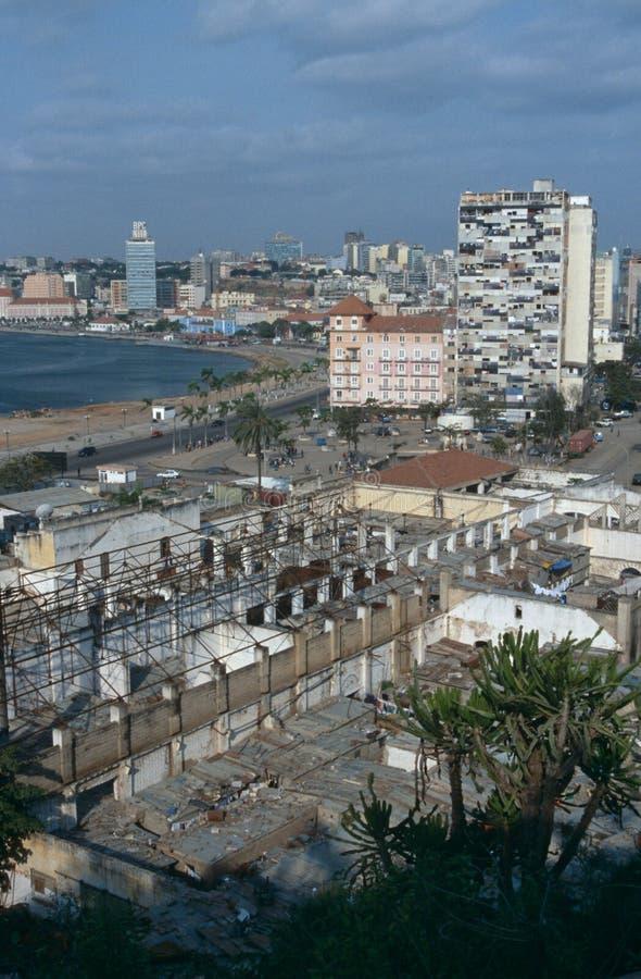 Cityscape van Luanda, Angola royalty-vrije stock foto