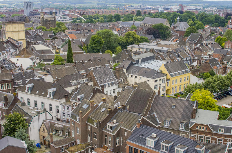 Cityscape van Maastricht royalty-vrije stock foto