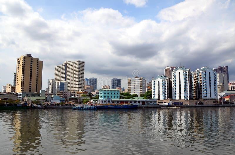 Cityscape van Manilla royalty-vrije stock foto