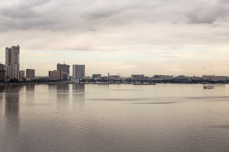 Cityscape van Manilla in de Filippijnen stock afbeelding