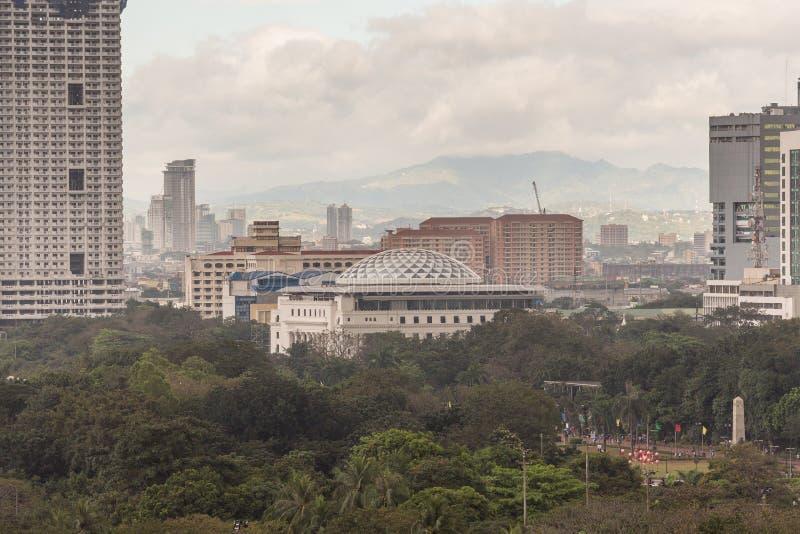 Cityscape van Manilla in de Filippijnen stock foto