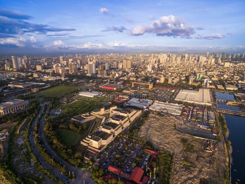 Cityscape van Manilla filippijnen Mooie cityscape stock foto's