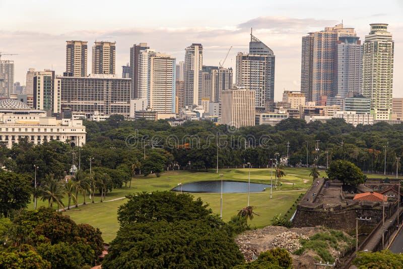 Cityscape van Manilla van Intramuros royalty-vrije stock foto