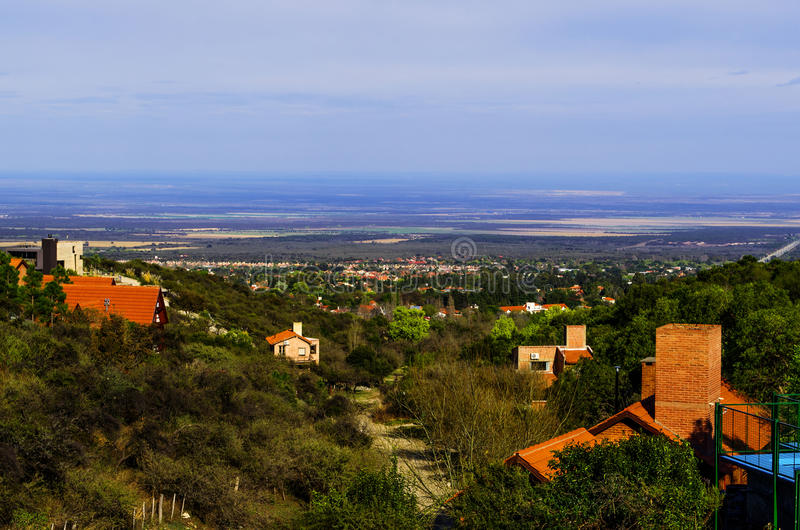 Cityscape van Merlo, San Luis stock afbeelding