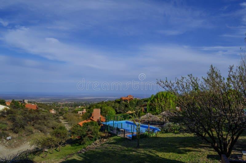 Cityscape van Merlo, San Luis royalty-vrije stock afbeeldingen