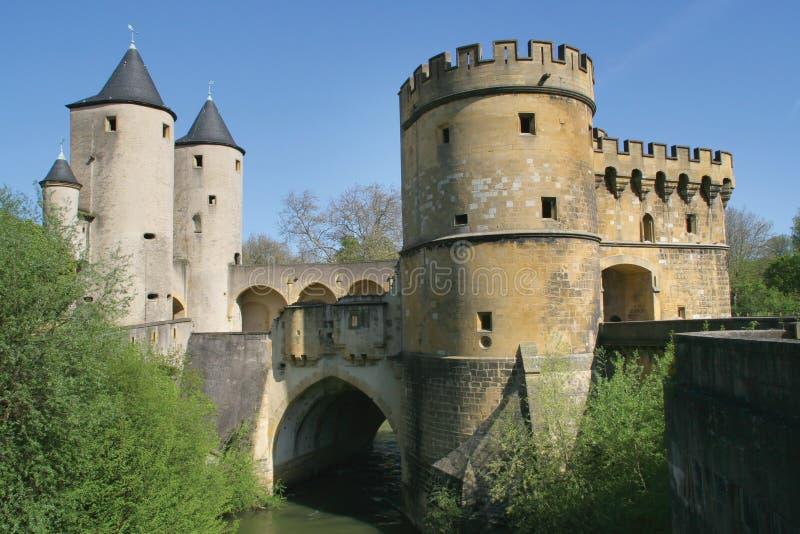 Cityscape van Metz - Duitse Poort stock foto's
