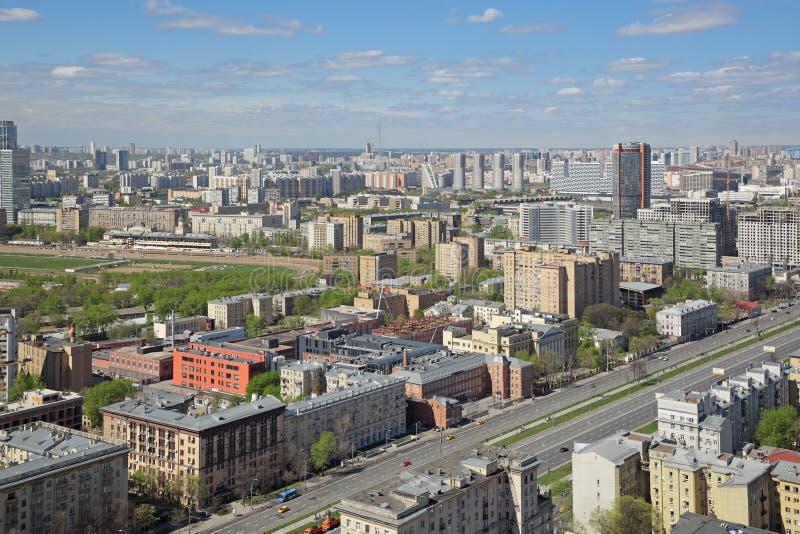 Cityscape van Moskou stock fotografie