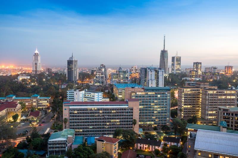 Cityscape van Nairobi - hoofdstad van Kenia royalty-vrije stock foto's