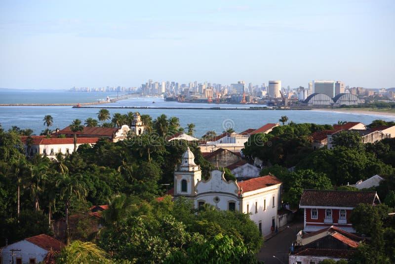 Cityscape van olinda en recife pernambucostaat Brazilië royalty-vrije stock fotografie