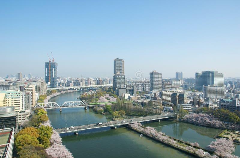 Cityscape van Osaka stock foto