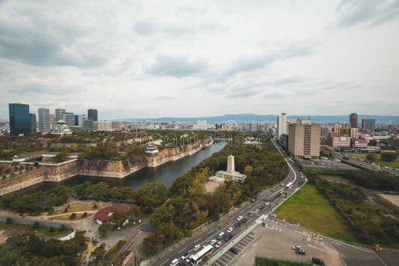 cityscape van Osaka stock foto's