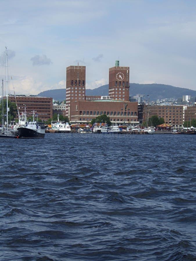 Cityscape van Oslo stock foto