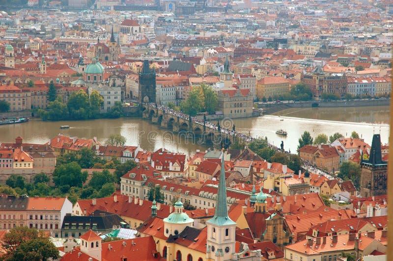 Cityscape van oud Praag royalty-vrije stock foto's
