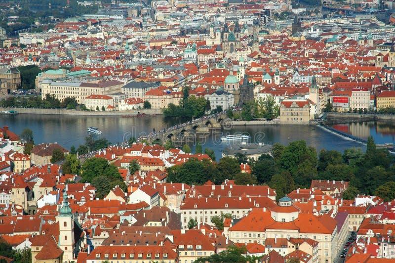Cityscape van oud Praag royalty-vrije stock foto
