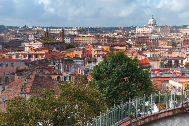 Cityscape van oud Rome, Italië royalty-vrije stock foto's