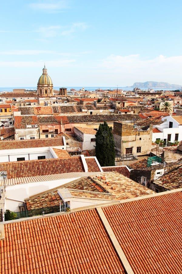 Cityscape van Palermo, de oude stad royalty-vrije stock foto