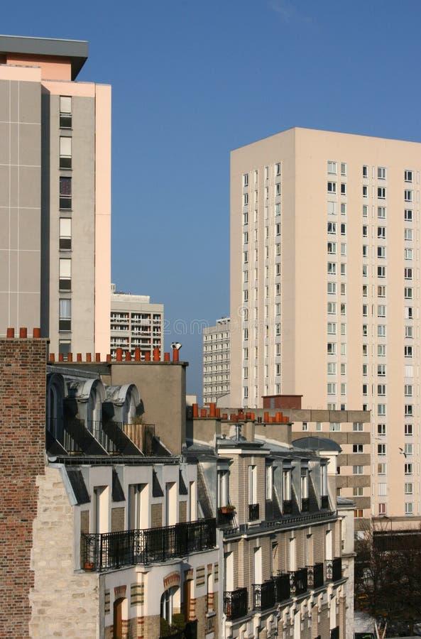 Cityscape van Parijs stock foto