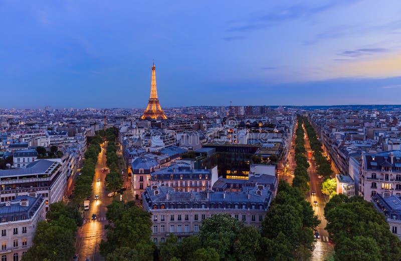 Cityscape van Parijs Frankrijk stock fotografie