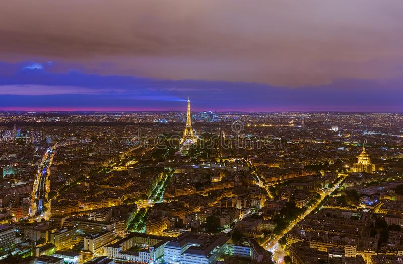 Cityscape van Parijs Frankrijk royalty-vrije stock foto's