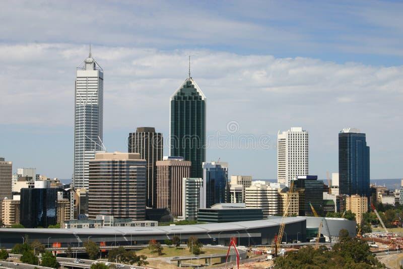 Cityscape van Perth stock afbeelding