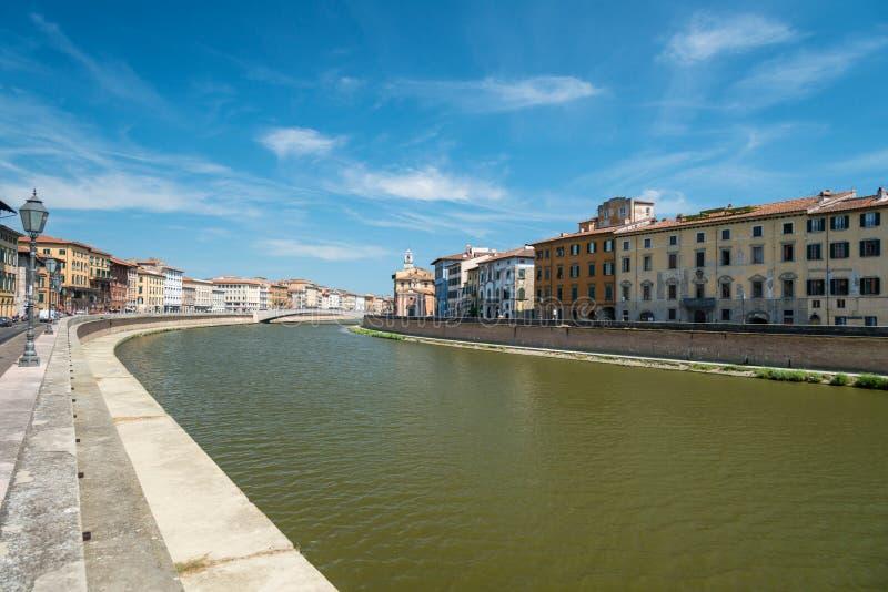 Cityscape van Pisa stock foto's