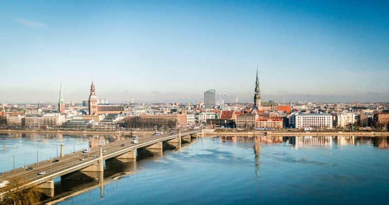Cityscape van Riga in Letland royalty-vrije stock fotografie