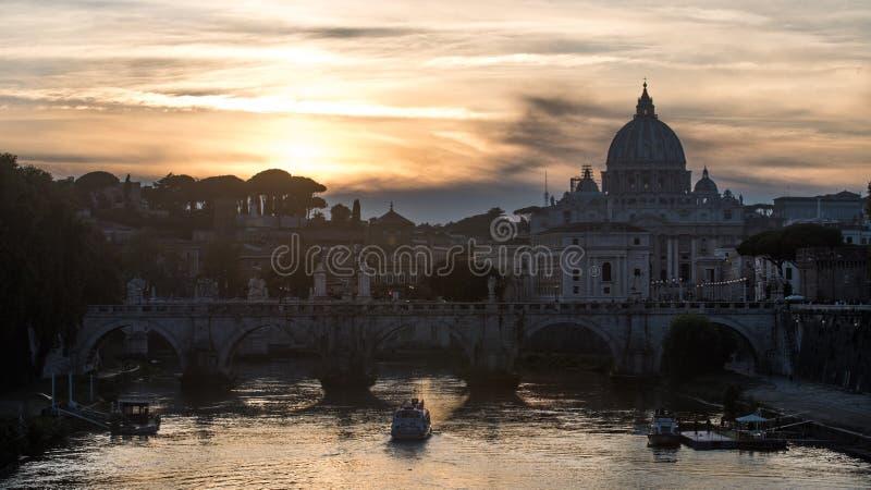 Cityscape van Rome in oktober - Italië, - 5 Oktober, 2018 stock foto
